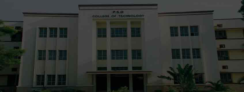 Psg College Of Technology Coimbatore Admission 2020 Courses Fees Cutoff Placement