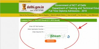 CET Delhi Result 2019 Declared Today - Check Result / Scorecard
